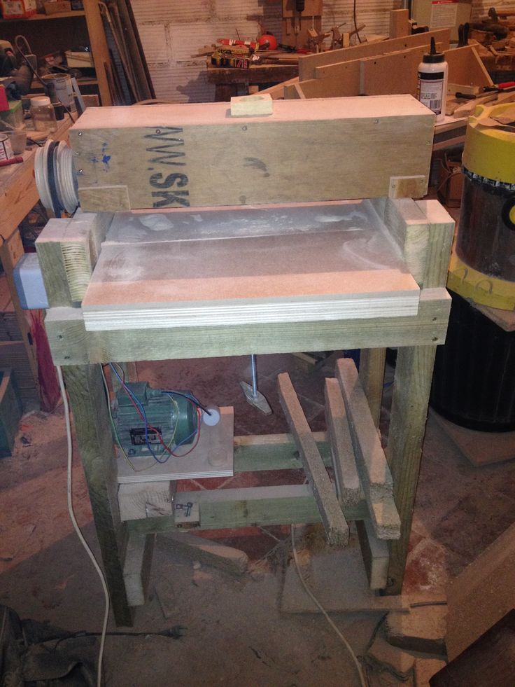 diy thickness sander with cap on