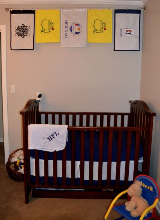 Golf flags above the crib with ikeausa dignitet curtain for How to wire a new room addition