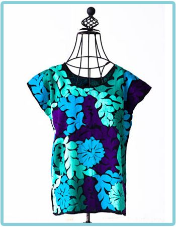 got a shirt almost like this made by Silvia Suarez, who works in Oaxaca....gorgeous!