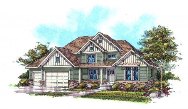14 best craftsman home plans images on pinterest for Rainey homes