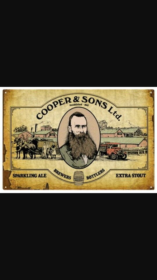 Old Cooper's Beer Poster.South Australian Beer.