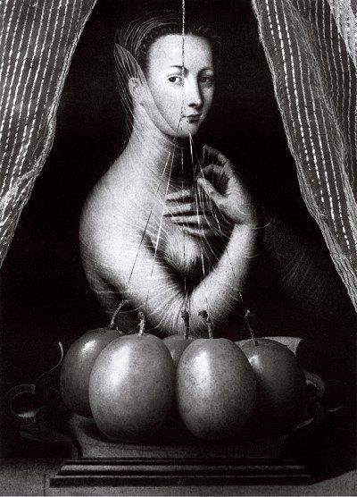 Diane De Poitiers as Sabina, Wife of Nero, with Plums 1994, from the series The Seer & The Seen c Paul Kilsby #paulkilsby #akehurstcreativemanagement #nickyakehurst