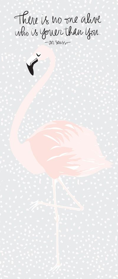Flamingo Right Art Print laybabylay society 6