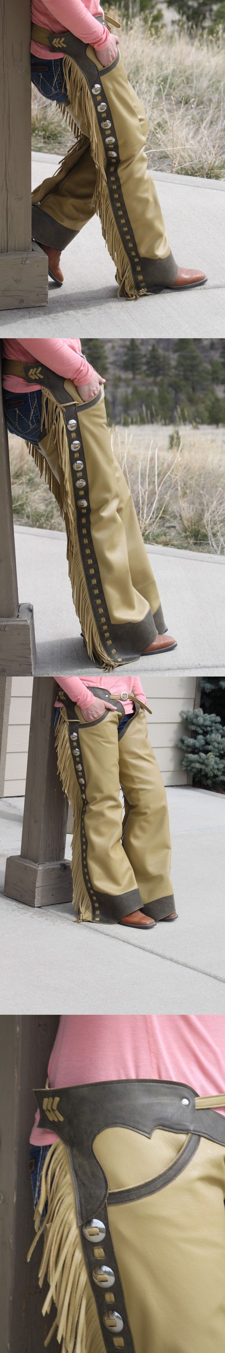 Western Chaps Full Chaps 183358: Shotgun Chaps With Adjustable Zippers, Pockets And Conchos -> BUY IT NOW ONLY: $350 on eBay!