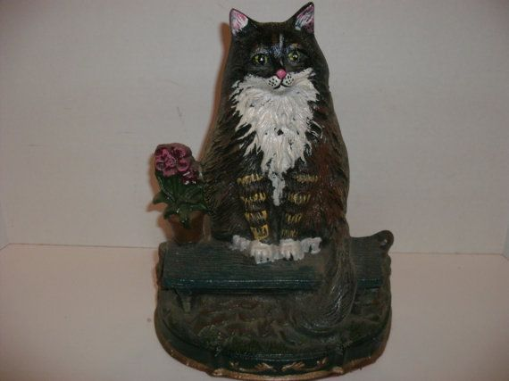 Reserve For Patricia Vintage Cast Iron Cat Door Stop