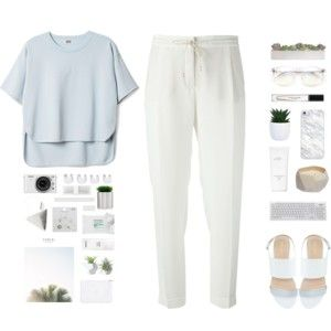 pastel minimal outfit