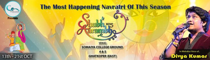 Caravan Events presents Shubh Aarambh 2015, The most happening Navratri of this season, In the melodius voice of Divya Kumar. A feeling of joy & happiness. A time for dance, music and devotion. Yes, we are talking about the most awaited festival by people from all walks of life – Navratri . It's the time to garb yourself in the traditional ghagra , choli , churidars , bandhani dupattas together with dazzling jewelry and gear into the traditional dance mode.