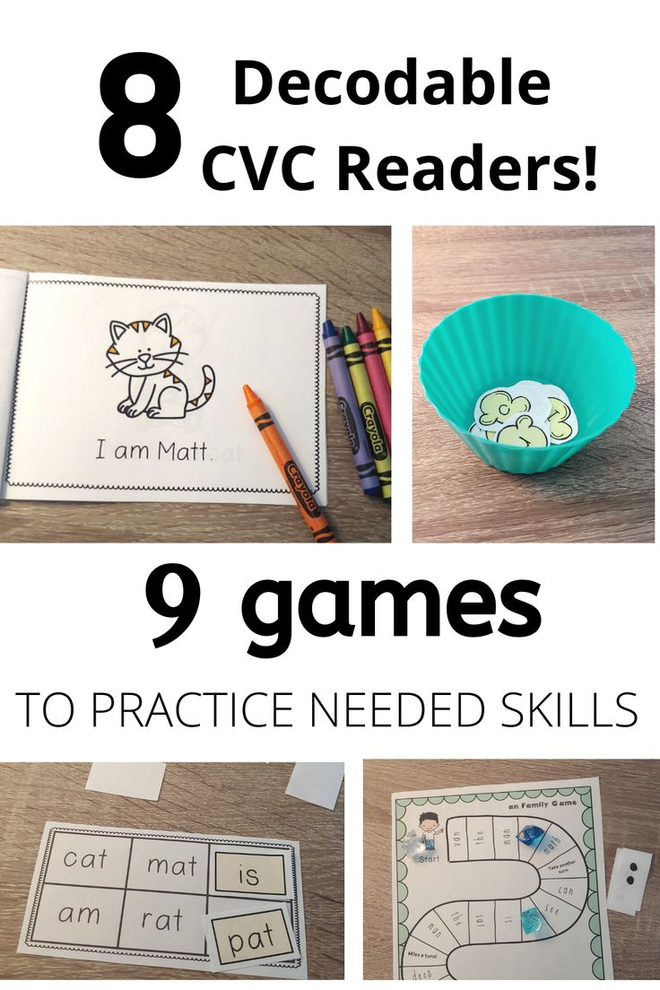 Word family readers with Decodable CVC Phonics booklets