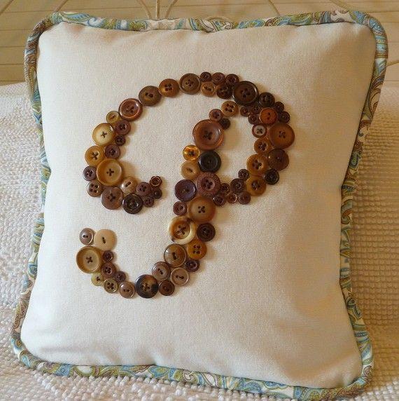antique button pillow