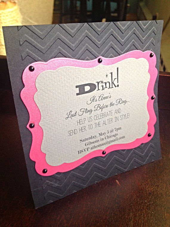 46 best Cards Bachelorette Invites images on Pinterest - fresh invitation card to chief guest