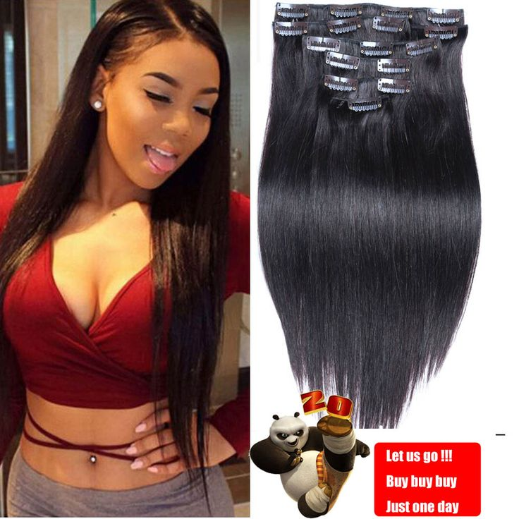7A Luxury Brazilian Clip In Human Hair Extensions Natural Blends Hair Clip In Human Silky Straight Human Hair Clip In Extensions ** Detailed information can be found by clicking on the VISIT button