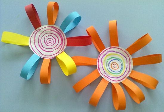 Flores con Cartulina de Colores