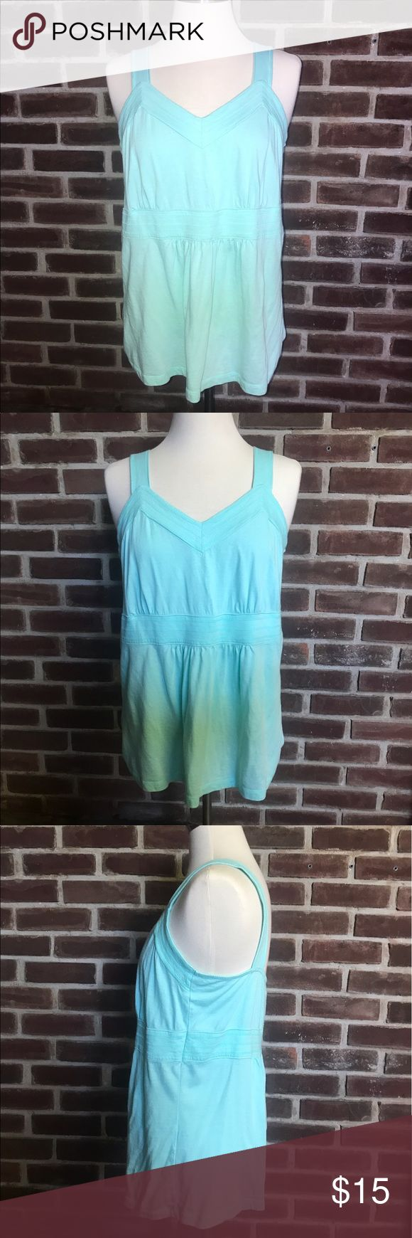 {Christopher & Banks} Tiffany Blue Tank Top SOLD ON EBAY! 60% Cotton, 40% Modal. Very soft. Beautiful Tiffany like blue color. Never worn & In excellent condition. Size Large. Made in Indonesia. Christopher & Banks Tops Tank Tops
