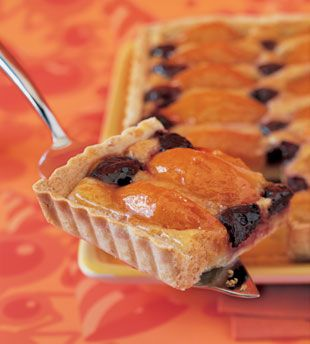 Almond Apricot and Cherry Tart