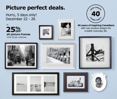 IKEA Canada Holiday Sale: Save 25% Off All Picture Frames! http://www.lavahotdeals.com/ca/cheap/ikea-canada-holiday-sale-save-25-picture-frames/156889?utm_source=pinterest&utm_medium=rss&utm_campaign=at_lavahotdeals