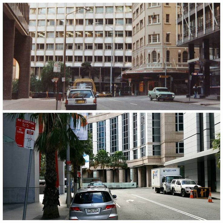 Chifley Square from Phillip Street 1986 > 2016. [City of Sydney Archives > Allan Hawley. By Allan Hawley @allanh596]