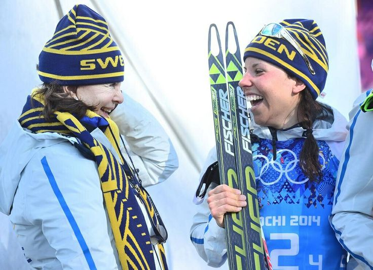 Two Queen's - The Swedish Queen Silvia and the Queen of crosscountryskiing Charlotte Kalla