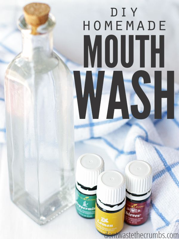 Homemade mouthwash is not only cheaper, but better for you than commercial mouthwash. Plus it's just 3 ingredients & water, a must-have natural alternative.