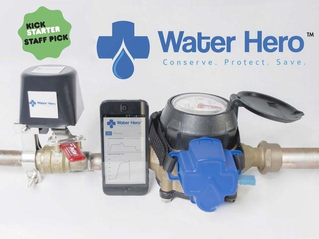Stops pipe bursts & small costly plumbing leaks.  SmartPhone controlled & easy install