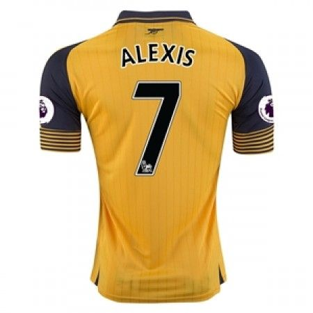 Arsenal 16-17 Alexis Sanchez 7 Borte Drakt Kortermet.  http://www.fotballpanett.com/arsenal-16-17-alexis-sanchez-7-borte-drakt-kortermet.  #fotballdrakter