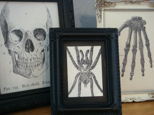 Diy Gothic Frames Creepy Crafts Pinterest