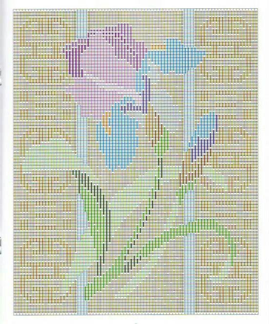 Blooms in Longstitch