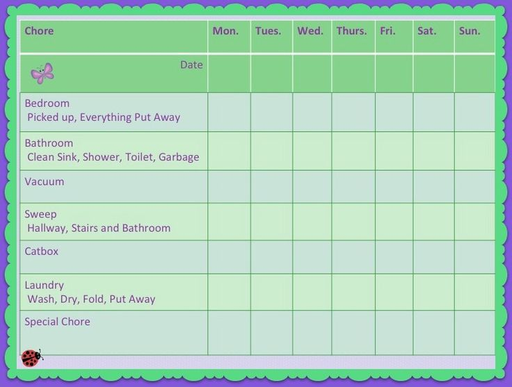 Weekly Chore Chart | Our chart and a free printable for ...