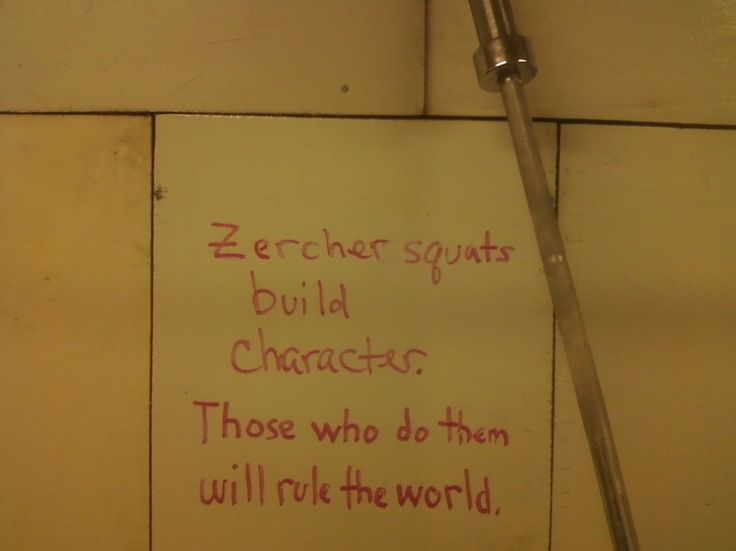 Zercher squat build character. Those who do them will rule the world.  TESTOSTERONE NATION | Zercher Squats