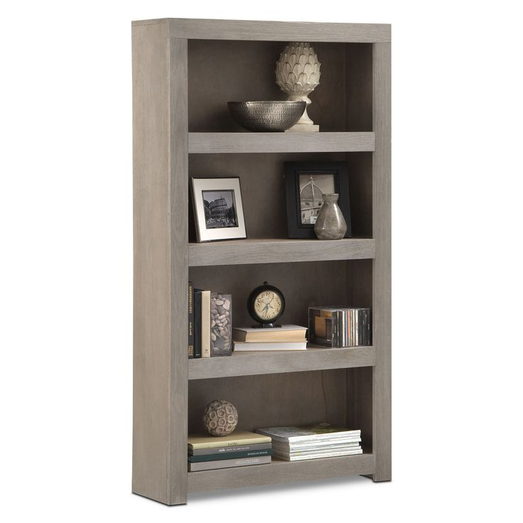 "American Signature Furnature Home Office Furniture - Bricklin 60"" Bookcase - Driftwood"