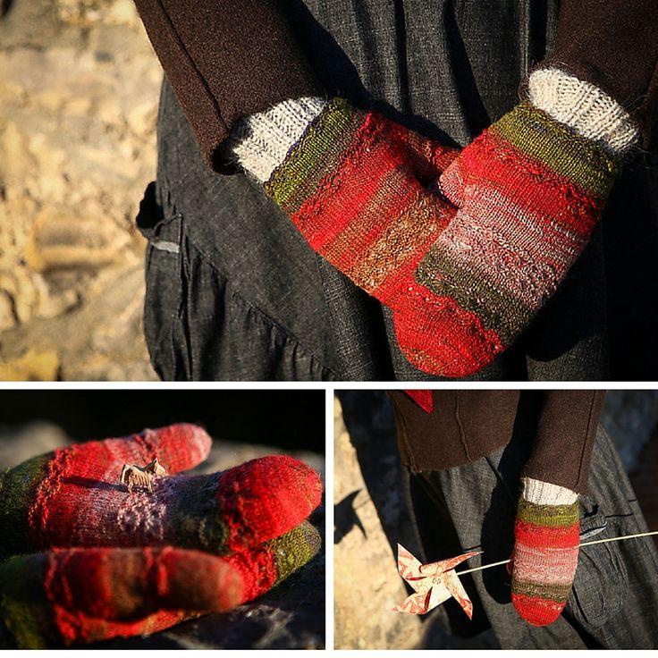 lace mittens knitting pattern