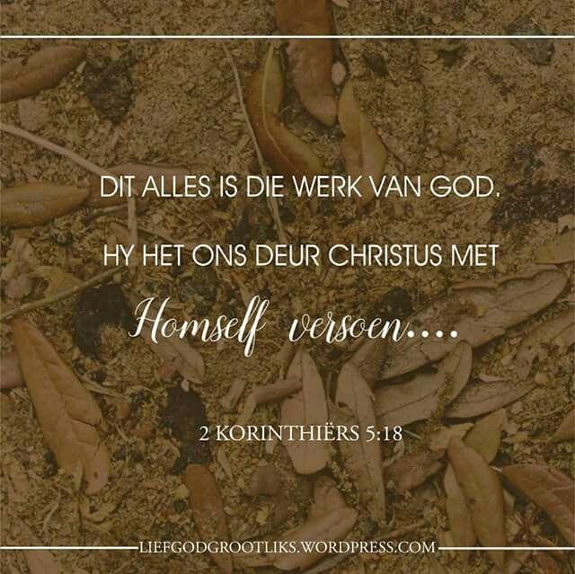 Jy is Vergewe – Die Boodskap van Vergifnis – Maandag – Vandag se verse- 2 Korinthiërs 5:18-19   1. Het jy al ooit gevoel soos beskadigde goedere? Bely daardie gevoelens aan God, en lees dan Hebreërs 9:11-13. Vra God biddend om jou te help om jou skaamte en skuld te laat vaar, sodat jy Hom, die Lewende God kan dien.