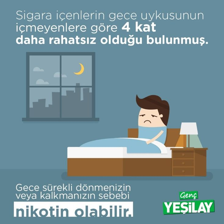 Sigarayı bırak, rahat bir uyku uyu!