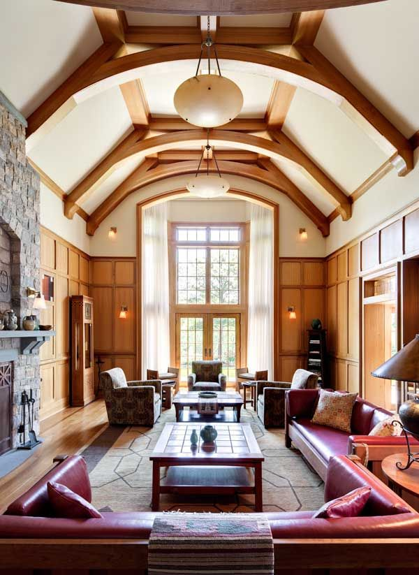 English And American Traditions In A New Craftsman Home