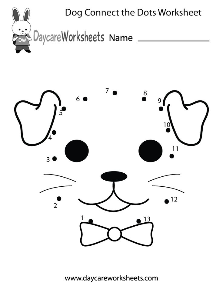 Preschoolers can connect the dots to make a dog in this free activity worksheet.