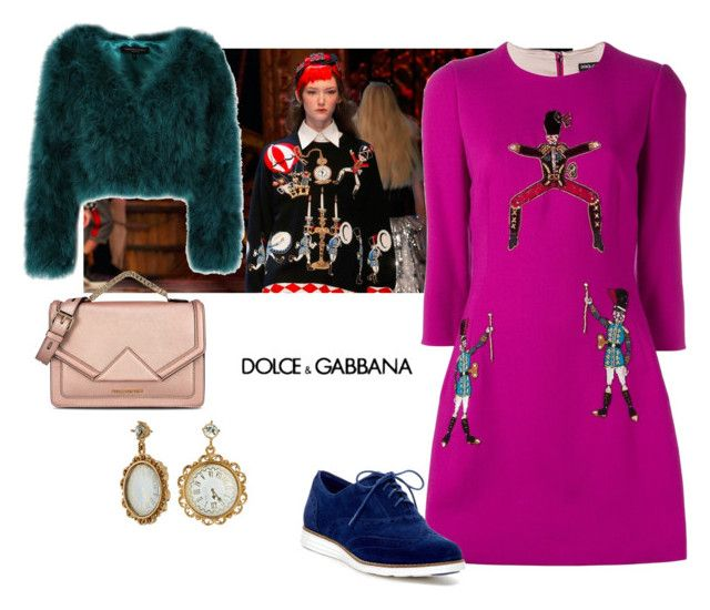 """""""Untitled #79"""" by i-teddybear on Polyvore featuring мода, Dolce&Gabbana, Cole Haan и Karl Lagerfeld"""