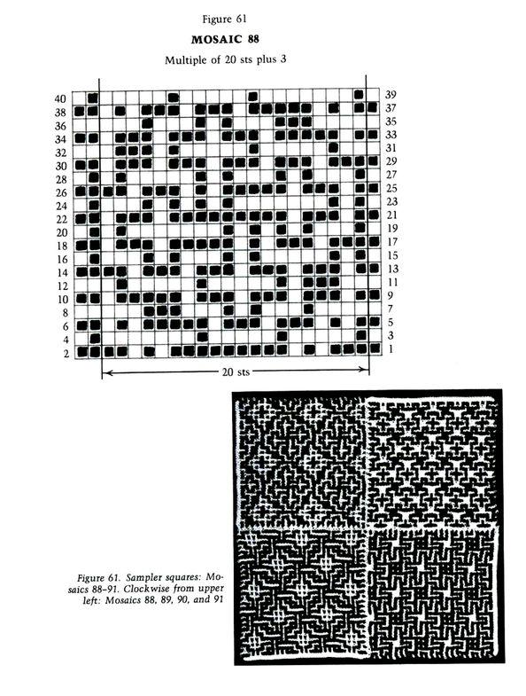 Mosaic Knitting Barbara G. Walker (Lenivii gakkard) Mosaic Knitting Barbara G. Walker (Lenivii gakkard) #79