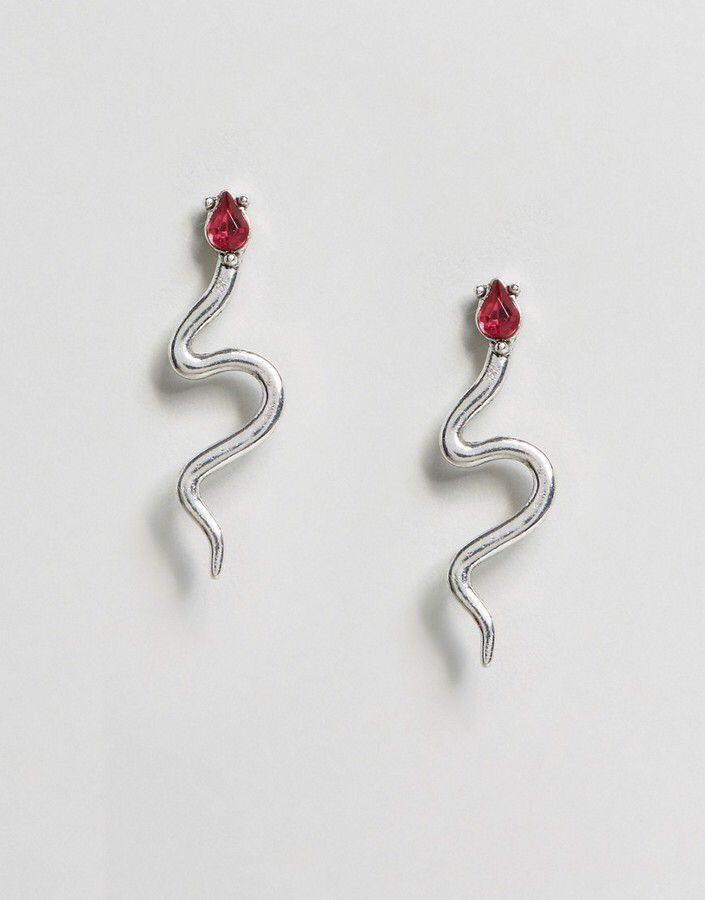 Liars & Lovers Ruby Snake Stud Earrings