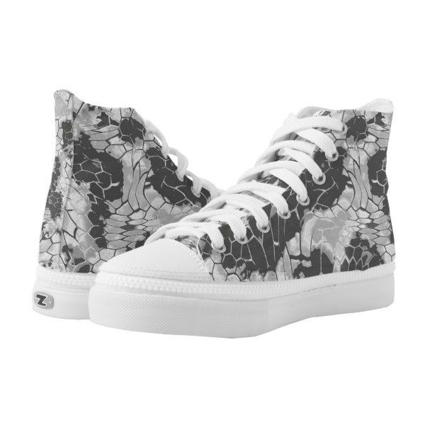 stone dragon camouflage High-Top sneakers ($101) ❤ liked on Polyvore featuring shoes, sneakers, dragon, grey, camouflage sneakers, high-top sneakers, gray high tops, gray sneakers and camouflage shoes