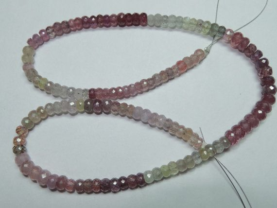 Pretty Natural Multi Sapphire Shaded Faceted by StarGemBeads