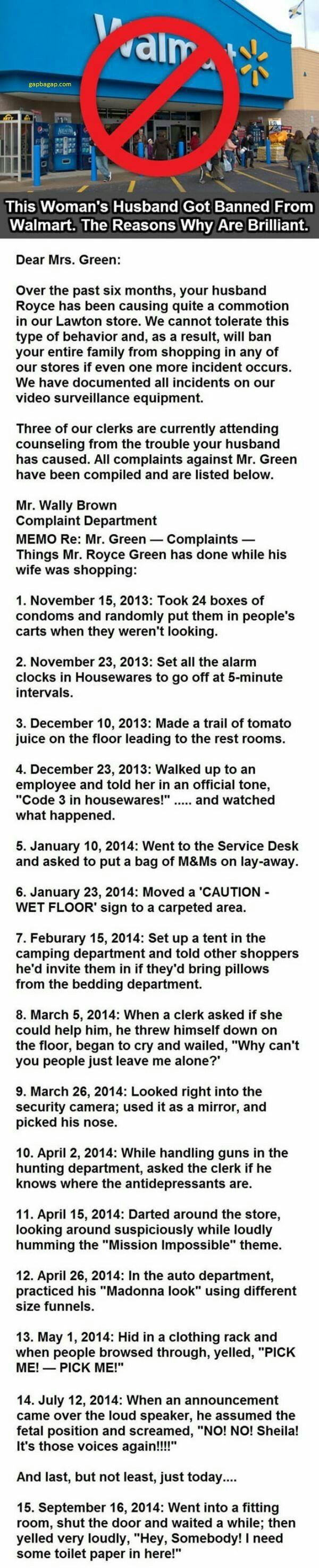 Funny Story About A Husband vs. Walmart