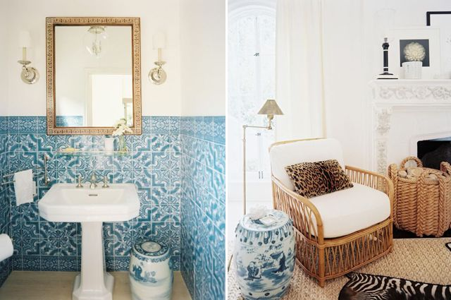 Two of my favorite colors:  white and Mediterranean blue.