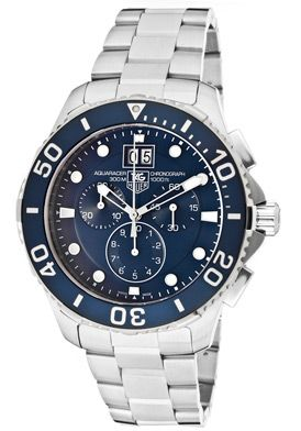 Tag Heuer CAN1011.BA0821 Watches,Men's Aquaracer Chronograph Blue Dial Stainless Steel, Men's Tag Heuer Quartz Watches
