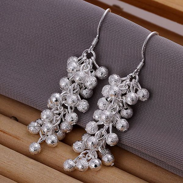 Wholesale silver plated Earring,925 Jewelry silver,Sand Grape Earrings SMTE007