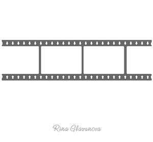 Film Strip With Arrows on Craftsuprint - View Now!