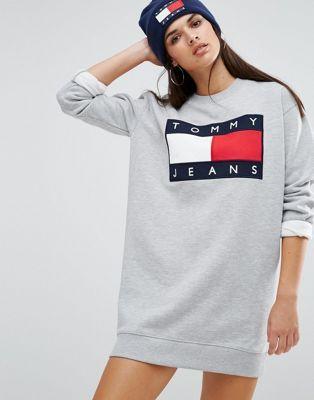 Tommy Jeans - Robe sweat avec logo