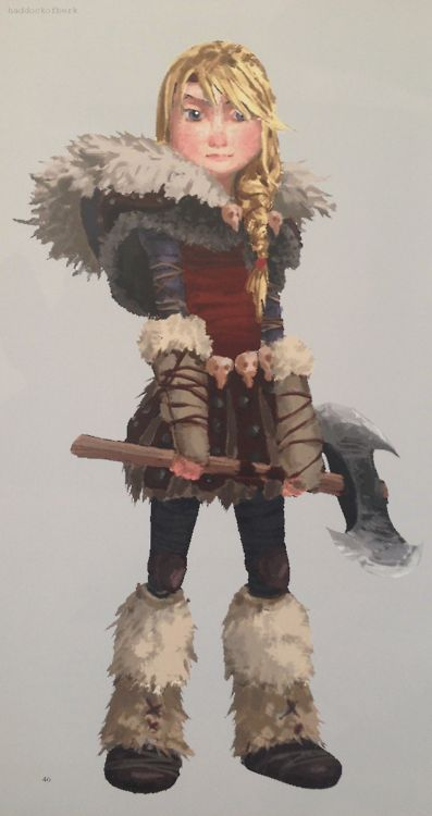 Astrid's concept art for HTTYD2
