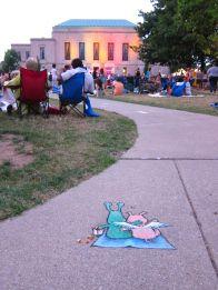 Ann Arbor Summer Festival Installations, 2012-2013   David Zinn ----- http://sluggoonthestreet.tumblr.com/archive