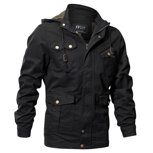 041050c9b S.Archon Us Air Force Tactical Hooded Pilot Jackets Men Winter Warm ...