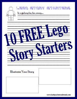 5 Days Of Learning With Legos - Lego Story Starters FREE Worksheets