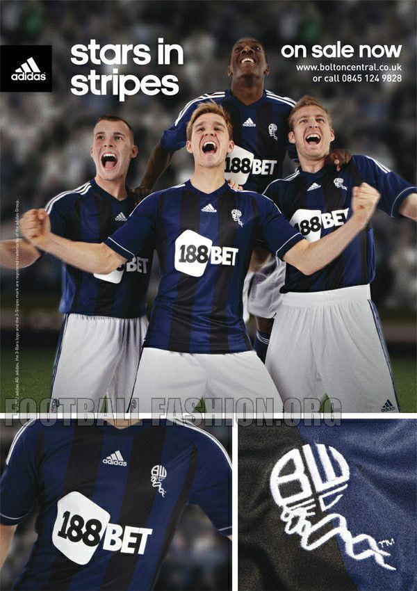 Bolton Wanderers adidas 2012/13 Away Kit